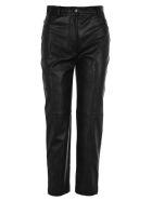 Stella McCartney Faux Leather Carrot Pant - BLACK