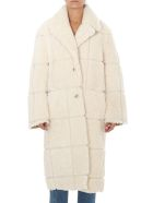 Off-White Coats OFF-WHITE SHEARLING COAT