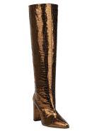 Paris Texas Croco Boots - Bronze