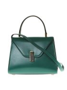 Valextra Emerald Green Iside Tote Bag In Leather - Emerald green