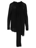 Prada Sheer Detail Blouse - BLACK