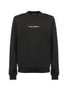 Dolce & Gabbana Embroidered Logo Sweatshirt - Black