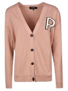 Rochas Logo Cardigan - Light Beige