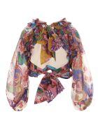Zimmermann 'the Lovestruck Tie Bodice' Top - Multicolor
