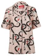 For Restless Sleepers Printed Shirt - Pink