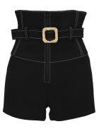 Kenzo Belted High-waisted Shorts - BLACK