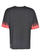 Vision of Super Flame Sleeve T-shirt - Black