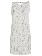Ermanno Scervino Embellished Sleeveless Dress - white
