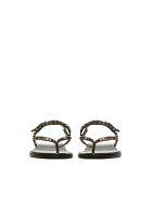 Ash Studded Flat Sandals - Nero oro