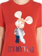 Alberta Ferretti 'topo Gigio It's My Year' T-shirt - Red