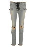 Ben Taverniti Unravel Project Unravel Skinny Lace Up - Gray