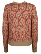 Be Blumarine Glittery Motif Print Sweater - nut