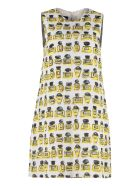 Boutique Moschino Patterned Print Mini Dress - White