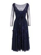 La Petit Robe Di Chiara Boni La Petit Robe By Chiara Boni 'kirim Illusion' Polyamide Dress - Blue night