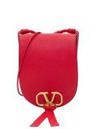 Valentino Garavani Vring Grainy Leather Shoulder Bag - Red
