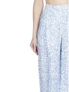 Jacquemus Le Pantalon Loya Trousers - Print blue flowers