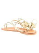 K.Jacques Ellada Sandals - Lame Platine