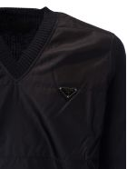 Prada Logo Plaque Sweater - Nero