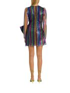 The Attico Multicoloued Laminated Tulle Dress With Bow - Multicolor