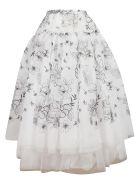 Ermanno Scervino Embroidered Organza Skirt - white