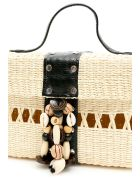 Sensi Studio Wicker Box Bag - NATURAL BLACK (Beige)