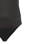 Ganni Dot Print Swimsuit - Nero bianco rosso