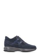 Hogan Interactive Suede Sneakers - blue