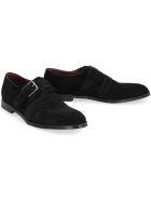 Dolce & Gabbana Suede Monk-strap Shoes - black