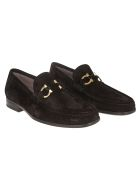 Salvatore Ferragamo Logo Hardware Loafers - Nero