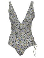 Tory Burch Printed Smocked One Piece - Love Floral Degrade
