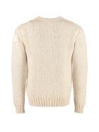 Moncler Intarsia Crew-neck Sweater - panna