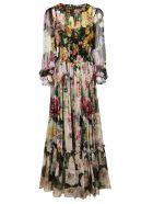Dolce & Gabbana Floral Print Long Dress - Pink