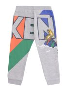 Kenzo Kids Stretch Cotton Track-pants - grey