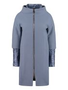 Herno Wool Blend Coat - Blue
