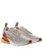 Nike Cream And Gold Sneakers Nike Air Max 270 In Knit - Cream/gold