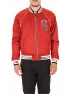 Dolce & Gabbana Nylon Jacket With Patch - BORDEAUX SCURO (Red)
