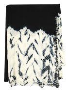 Suzusan Patterned Scarf - Black White