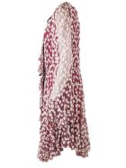 Philosophy di Lorenzo Serafini Mini Dress In Burgundy Tulle - Fant fuxia