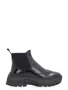 Prada Leather Chelsea Boots - black