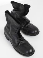 Guidi Stitched Detail Lace-up Boots - Blkt Black