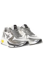 Golden Goose Laminate Silver Leather Sneakers - White/silver