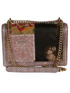 Dolce & Gabbana Heart Plaque Flap Chain Shoulder Bag - Multicolor