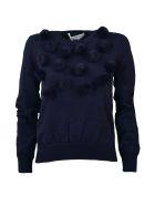 Comme Des Garçons Girl Comme Girl Pom Pom Knitted Sweater - Navy