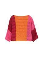 Alberta Ferretti Knitted Linen Top - Multicolor