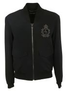 Dolce & Gabbana Embroidered Bomber - BLACK