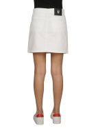 Versus Versace Logo Denim Skirt - White