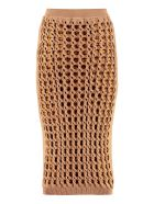 Fendi Interlock Knit Skirt - Camel