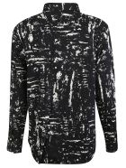 Bottega Veneta Paint Detail Shirt - Black/Off-White