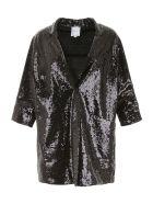 In The Mood For Love Sequins Coat - BLACK (Black)