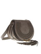 Chloé Marcie Motty Grey Suede Leather Bag - Motty grey